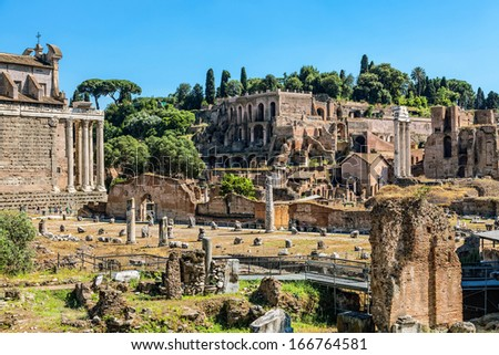 Roman Forum - stock photo