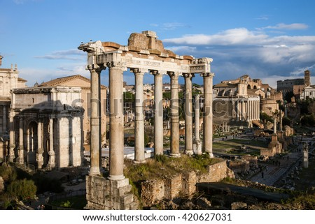Roman forum, famous historical place