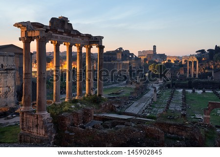 Roman forum, Rome - stock photo