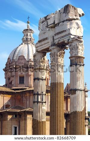 Roman Forum. Rome, italy - stock photo