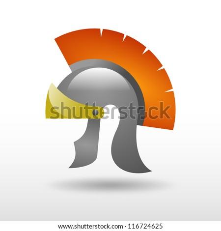 Roman Helmet - stock photo