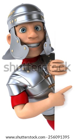 Roman legionary soldier - stock photo