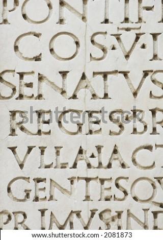 roman letters - stock photo