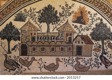 Roman Mosaic - stock photo