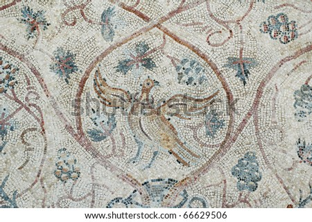 Roman Mosaic close up - stock photo