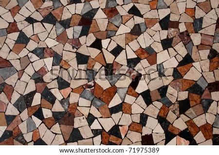 Roman Mosaic close up - stock photo