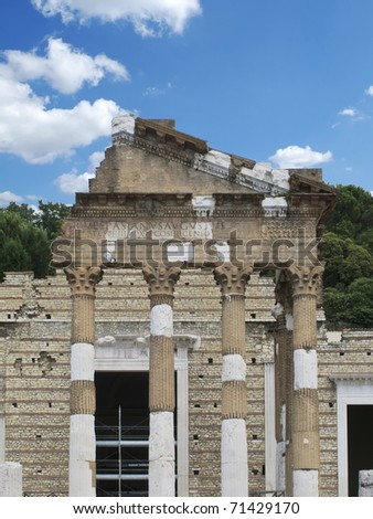 roman ruins and sky