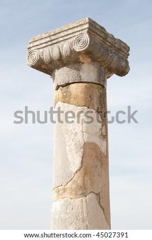 Roman ruins in Volubilis - stock photo