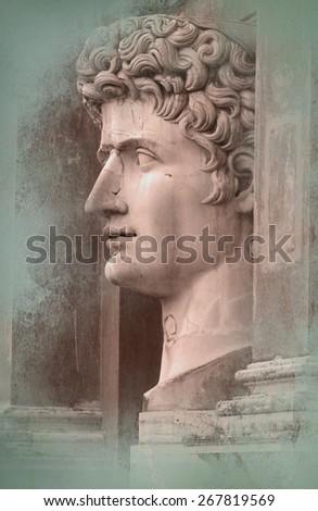Roman sculpture - stock photo