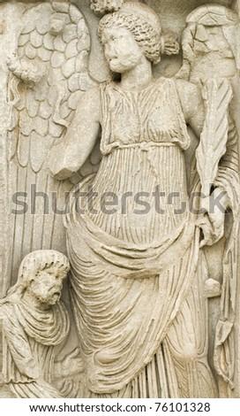 roman sculptures - stock photo
