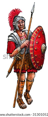 Roman soldier - stock photo