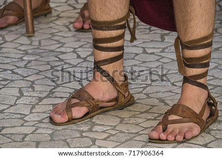 Roman Soldier Shoes Stock Photo Royalty Free 717906364