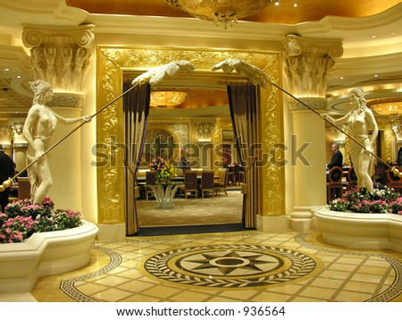 roman style ornate interior decor - stock photo
