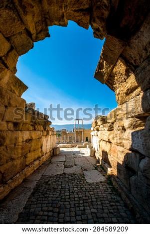Roman theatre of Philippopolis in Plovdiv, Bulgaria - stock photo