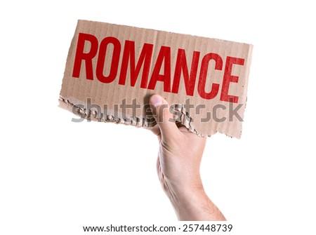 Romance card isolated on white background - stock photo