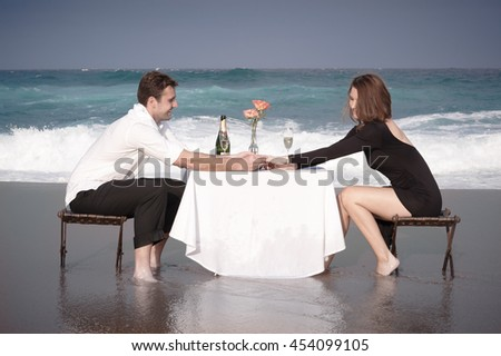 Romance Engagement Couple Love Beach Ocean Lovers Relationship