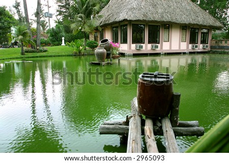 romance house in a quite place with lake beside