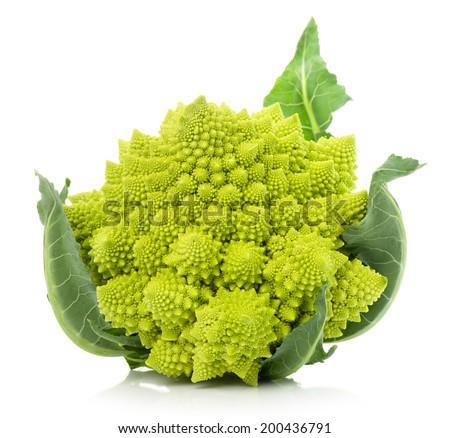 Romanesco broccoli, or Roman cauliflower - stock photo