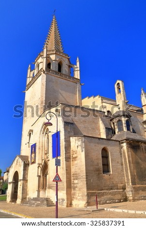 Romanesque and Gothic architecture of St Martha's Collegiate Church in Tarascon, Provence-Alpes-Cote d'Azur, France