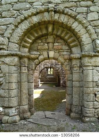 Romanesque Doorway, Kilkenny, Ireland - stock photo