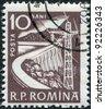 ROMANIA - CIRCA 1960: A stamp printed in the Romania, depicts Dam, circa 1960 - stock photo