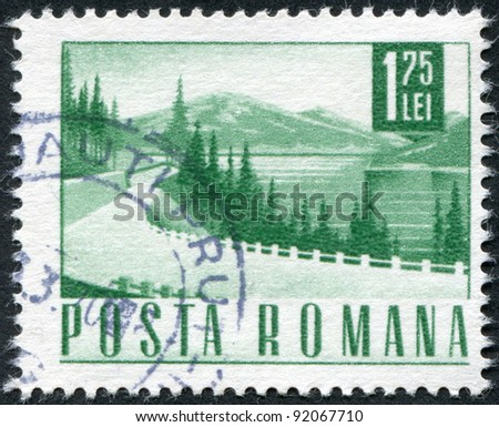 ROMANIA - CIRCA 1968: A stamp printed in the Romania, shows the road, circa 1968