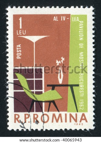 ROMANIA - CIRCA 1962: Interior. House furniture. Stylish apartments, circa 1962.