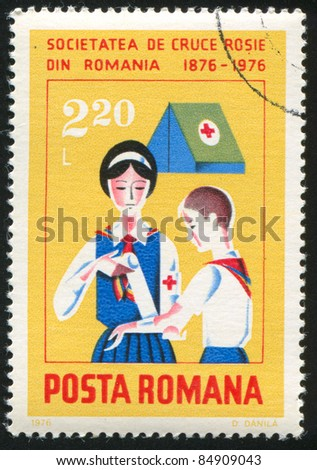 ROMANIA - CIRCA 1976: stamp printed by Romania, shows First aid, circa 1976