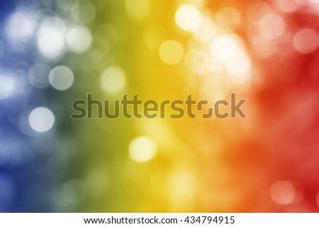 ROMANIA : National flag. Soft blurred bokeh natural background. Abstract gradient desktop wallpaper. - stock photo