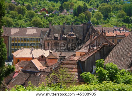Romania village panorama, Sighisoara