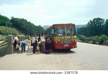romanian bus station