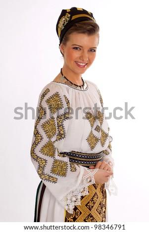 romanian  folklore - stock photo
