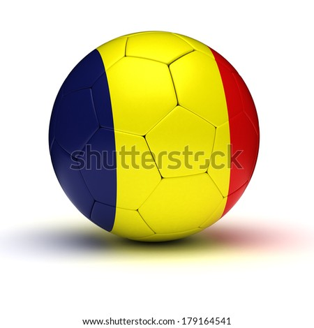 Romanian Football (isolated with clipping path)