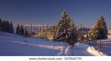 Romanian landscape in Carpathians mountains