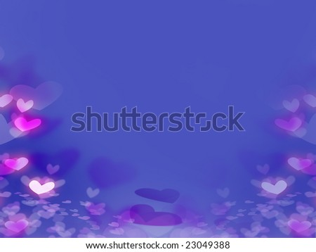 Romantic Background with  Hearts foe wedding or valentine's day