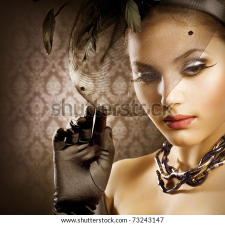 Romantic Beauty Portrait - stock photo