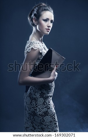 Romantic Beauty.Vintage Styled.Studio shot.