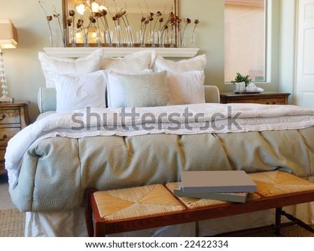 Romantic Bedroom Interior Design - stock photo