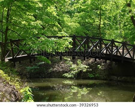 Romantic bridge - stock photo