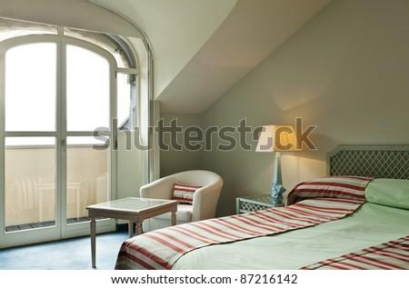 romantic corner of a hotel room, interior - stock photo