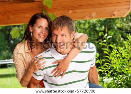 romantic couple in love - stock photo