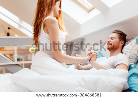 Romantic couple in love lying on bed and being passionate. Romantic Couple Love Lying On Bed Stock Photo 361707236   Shutterstock