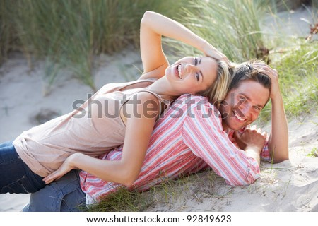 Romantic couple outdoors - stock photo