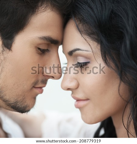 Romantic couple portrait - stock photo
