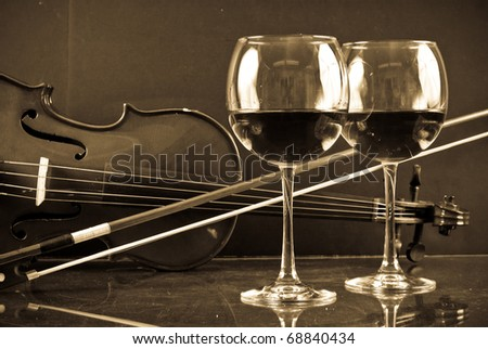 Romantic Evening For Two Concept Image - stock photo