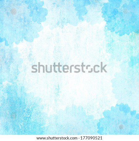 romantic flower Grunge blue background vintage abstract rusty colored background - stock photo