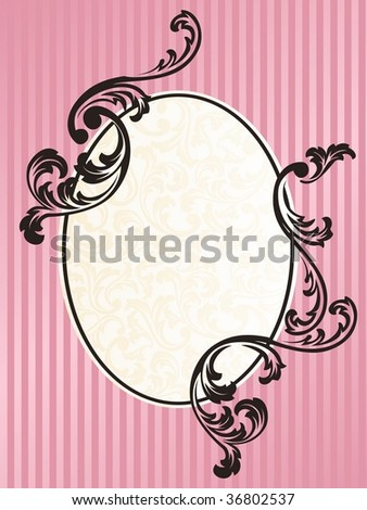 Romantic French retro frame in pink (JPG); a vector version is also available