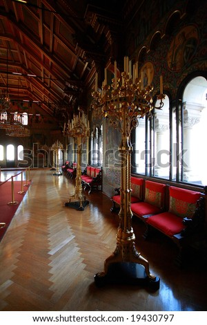 Romantic germany castle interior