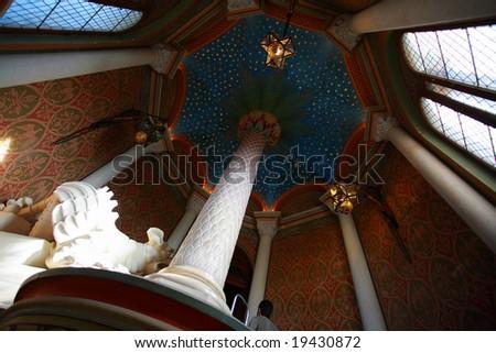 Romantic germany castle interior - stock photo