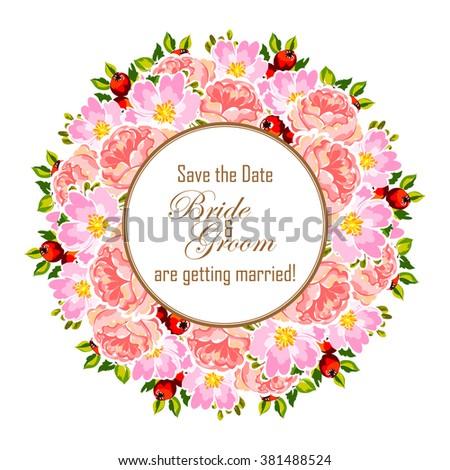 Romantic invitation wedding marriage bridal birthday stock romantic invitation wedding marriage bridal birthday stock illustration 381488524 shutterstock stopboris Images